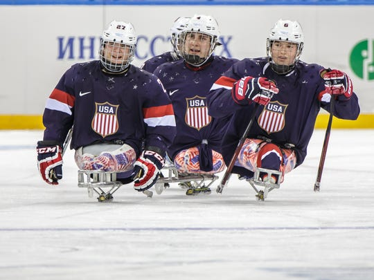 Josh Pauls of Green Brook, then 21, played alongside Declan Farmer and Brody Roybal as Team USA defended the gold medal at the 2014 Paralympics.