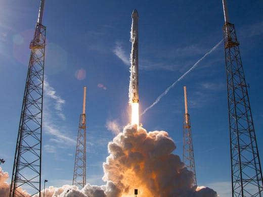 A SpaceX Falcon 9 rocket launched on December 15, 2017