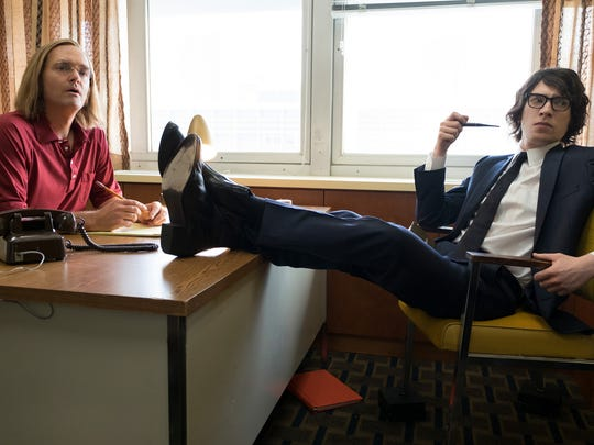 Will Forte, left, and Domhnall Gleeson co-star in 'A