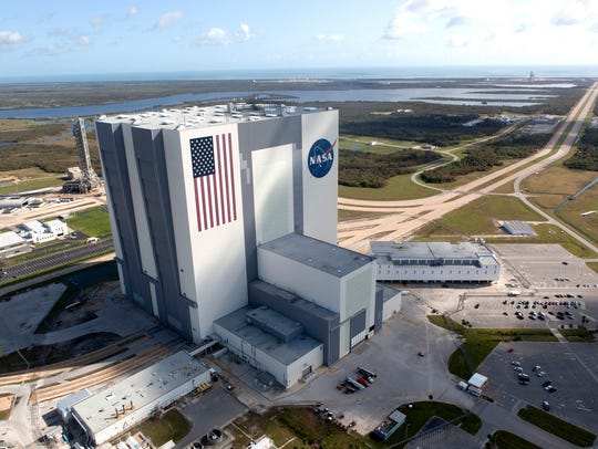 Aerial view of Kennedy Space Center taken in September