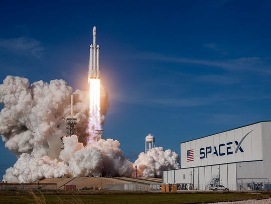 At 3:45 p.m. Tuesday, Feb. 6, SpaceX's Falcon Heavy