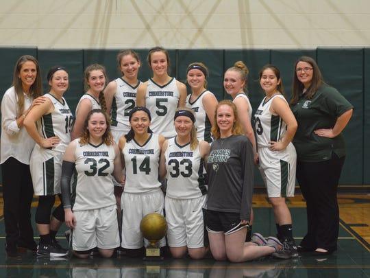 The Cornerstone Christian School girls basketball team won a TAPPS Class 1A area championship Monday, Feb. 19, 2018.