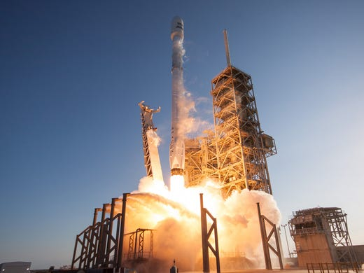 A SpaceX Falcon 9 rocket from Kennedy Space