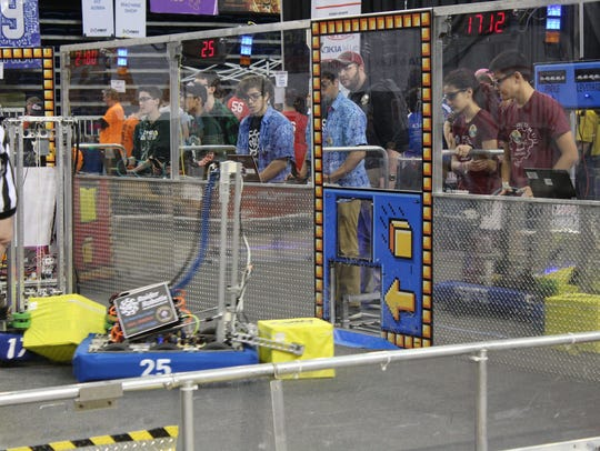 As members of the Raider Robotix drive team from North