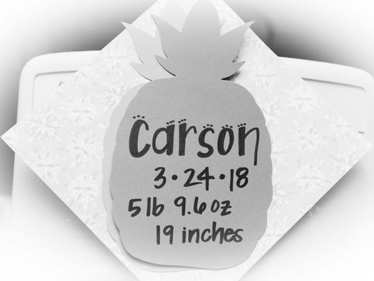 Carson was born with a fatal heart condition.