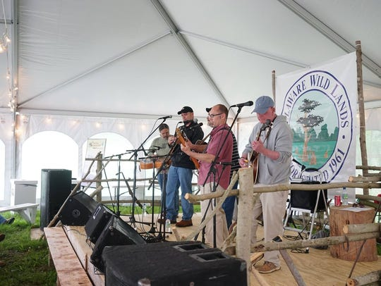 Flatland Drive plays during the 2017 Baldcypress Bluegrass