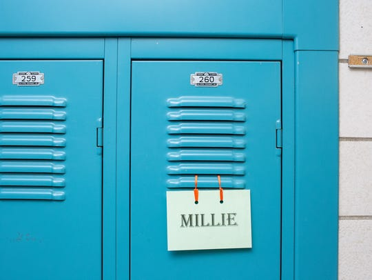 Millie the therapy dog used locker No. 2760 during