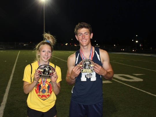 Marysville athletes Kaia Scheffler and Wesley Simpson were the MVPs of the Meet of Champions.