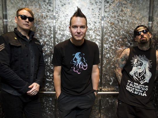 Blink-182 plays Friday at 7:45 p.m.