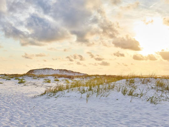 Gulf Islands National Seashore includes 8 miles of