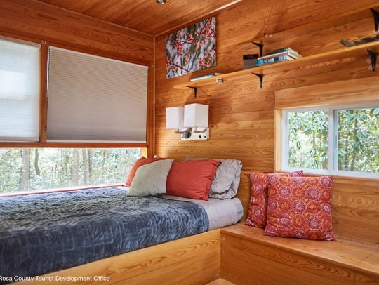 Treehouses at Coldwater Gardens feature two queen beds,
