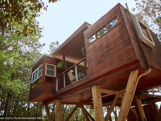 Feel like a kid againin a luxury treehouse at Coldwater