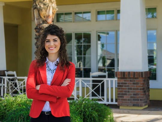 Aimee Rigler, 29, is running for a seat on the Town