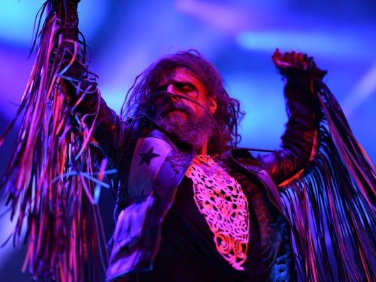 Rob Zombie performs Wednesday at Ruoff Home Mortgage Music Center.