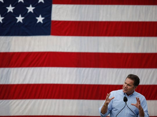 Bruce Braley at the 37th Harkin Steak Fry on Sept.