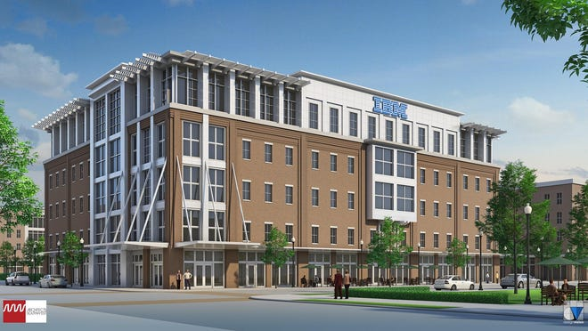 IBM's permanent building will go up across from CenturyLink along U.S. 165 as part of the Century Village development.