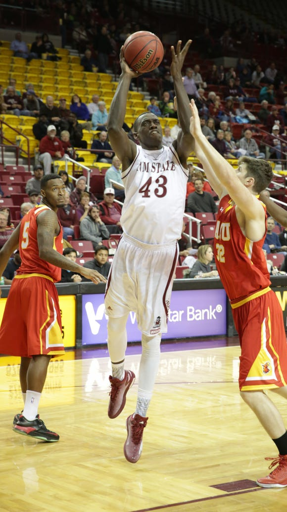 New Mexico State's Pascal Siakam (43) did a pre-draft