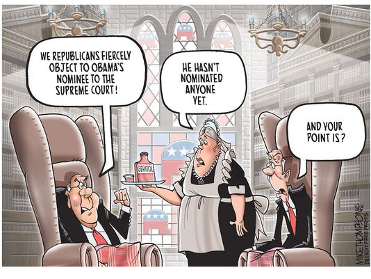 Scalia's replacement on the Supreme Court