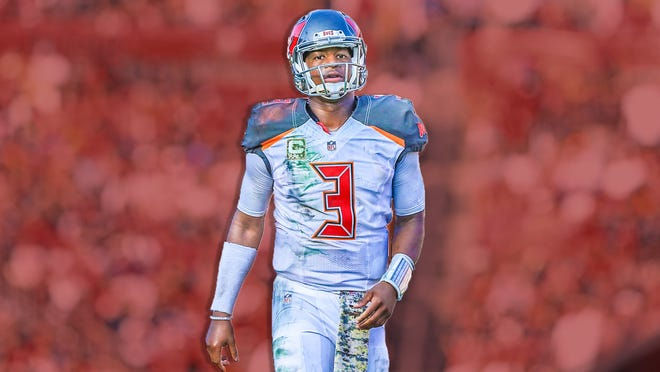 Nov 13, 2016; Tampa, FL, USA; Tampa Bay Buccaneers quarterback Jameis Winston (3) against the Chicago Bears at Raymond James Stadium. The Buccaneers won 36-10. Mandatory Credit: Aaron Doster-USA TODAY Sports