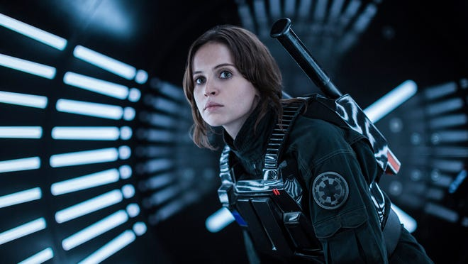 Jyn Erso (Felicity Jones) sets out on a mission for the Rebel Alliance in 'Rogue One: A Star Wars Story.'