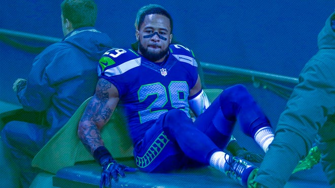 Seattle Seahawks' Earl Thomas leaves the field on a cart after being injured against the Carolina Panthers in the first half of an NFL football game, Sunday, Dec. 4, 2016, in Seattle. (AP Photo/Stephen Brashear) ORG XMIT: SEA121