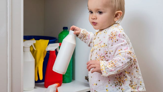 There are many everyday cleaners, chemicals and substances children can easily access that could unintentionally poison them. Credit: Getty Images