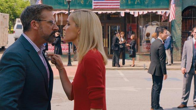 "Steve Carell stars as Gary Zimmer and Rose Byrne as Faith Brewster in Jon Stewart's ""Irresistible."""