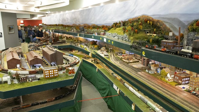 An overall view of a section of the Blissfield Model Railroad Club layout is pictured. The club will be hosting a reservation-only open house and layout tour Saturday, Jan. 30.