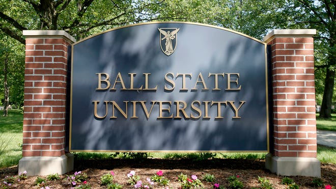Ball State signs.
