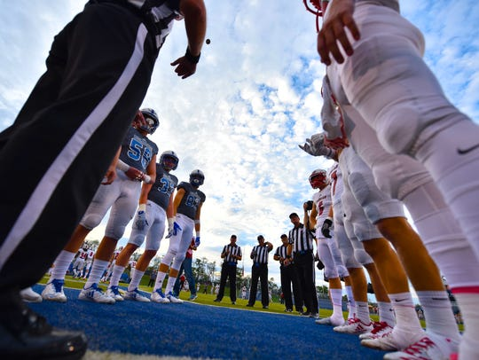 Coin toss between LaSalle and St. Xavier Friday, October