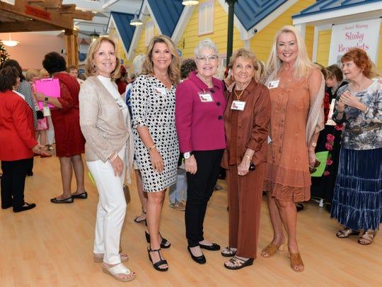 Judy Ducharm, left, Pat Armellini, Bonnie Royster,