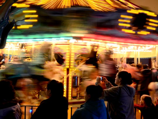 Rides on the Salem Riverfront Carousel are free on New Year's Day.