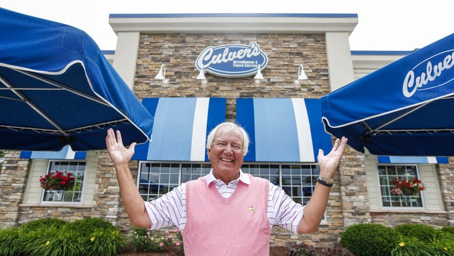 Curt Culver, part of the family that founded the Culver's fast food restaurant chain, stands in front of one of the 662 Culver's restaurants in 25 states. The fast food franchise has been around since 1984 and is known for serving frozen custard.