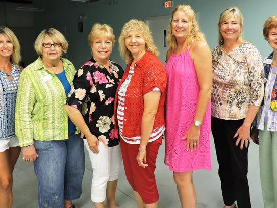 Outgoing board members are Suzy Hutcheson, Lucy Lueg,