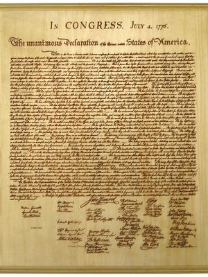 The Declaration of Independence.