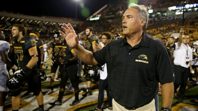 Southern Miss football coach Jay Hopson is the featured speaker for Monday's Jackson Touchdown Club.