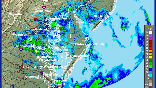 Rain is on the way for Delaware, potentially complicating the drive home.