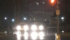 Police outside the White House on Jan. 26.
