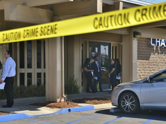 Tulare detectives are interviewing Chase bank staff following a robbery early Monday morning.