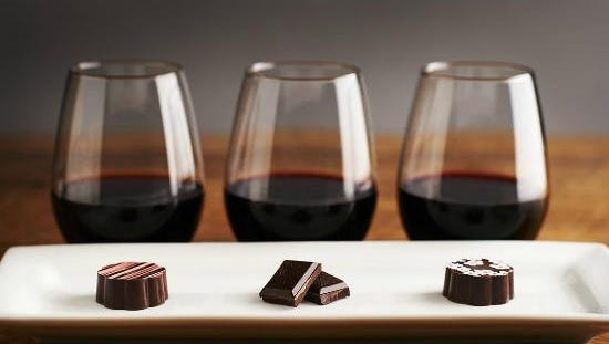 Wine pairs well with chocolate.