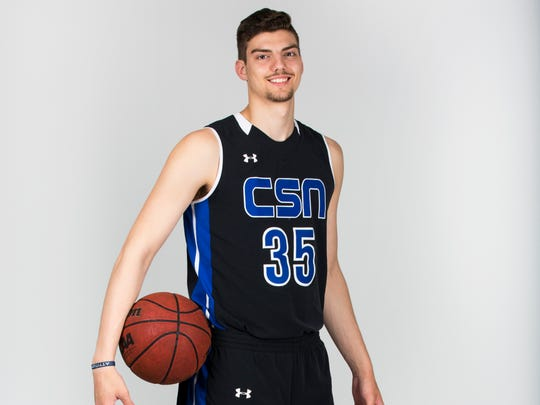Winter Player of the Year finalist Trent Buttrick, Community School basketball