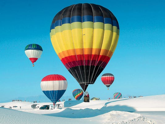 This year's White Sands Balloon Invitational will include launches at 7 a.m. Saturday at White Sands  National Monumnt and at 7 a.m. Sunday, Sept. 20, at the Ed Brabson Balloon Field in Alamogordo.