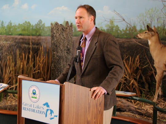 Cameron Davis, senior advisor at the U.S. EPA, announced $12.5 million in grants from the Great Lakes Restoration Initiative. The announcement was made at the Ottawa National Wildlife Refuge on Wednesday.