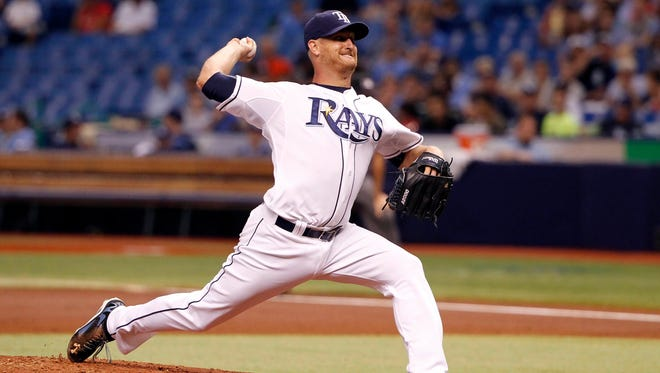 Tampa Bay Rays starting pitcher Alex Cobb (53) throws a pitch during the second inning against the Milwaukee Brewers at Tropicana Field