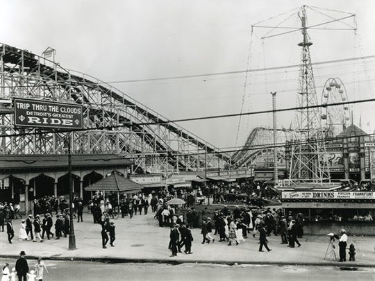 Electric Park, built in 1906, featured roller coasters,