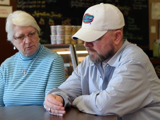 Kathy Canaan, left, and Greg Canaan discuss his illness.