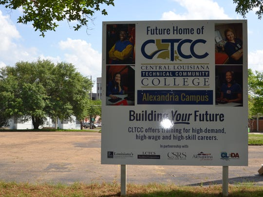 Central Louisiana Technical Community College will move its Alexandria campus to a site between Murray and Jackson streets downtown. The new campus is expected to be ready to open in about a year from now.