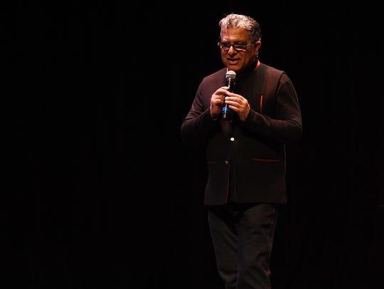 Deepak Chopraspeaks at a performing arts center in New Jersey in 2017.