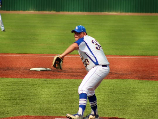 LaSalle pitcher Eli Stringer fires a pitch against