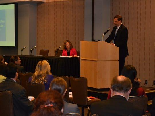 State Labor Commissioner Aaron R. Fichtner speaks at